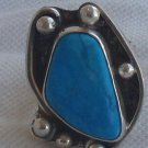 Turquoise  press hand made ring Dy10