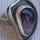 Purple colored glass ring MT13