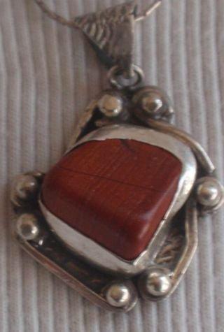 Blood stone silver pendant MT 14