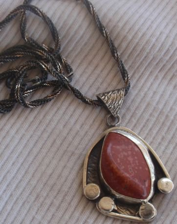 Blood stone pendant hand made MT16