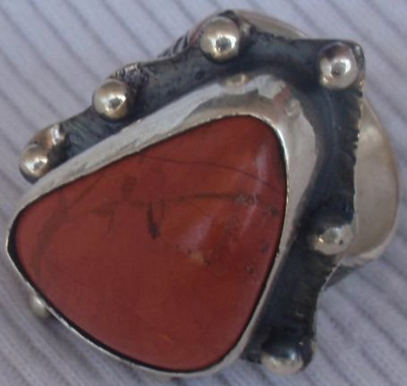 Blood stone hand made ring MT21