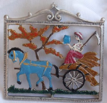 The Princess and the horse miniature