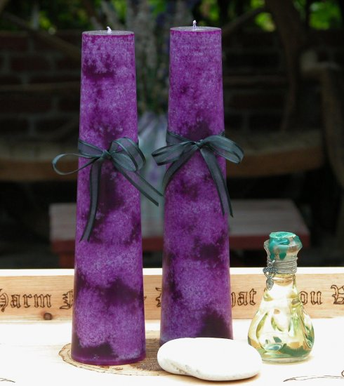 Power Altar Candles in Purple Set of 2