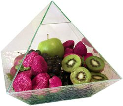 Pyramid Glass Fruit Case 10 in. Metaphysical
