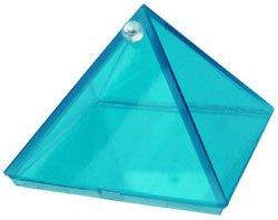 Aquamarine Glass Wishing Pyramid - 2 in. - Metaphysical