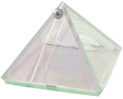 Moon Glass Wishing Pyramid - 2 inches - Metaphysical