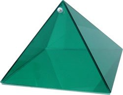 Harmony Emerald Glass Pyramid - 6 inch - Metaphysical