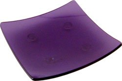 Violet Candle or Cone Insense Square Holder - Glass -  3.5in. square - Metaphysical