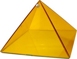 Yellow Creativity Glass Pyramid - 6 inch - Metaphysical