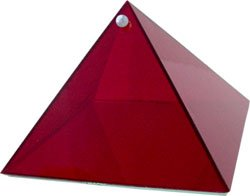 Ruby Energy Glass Pyramid - 6 inch - Metaphysical