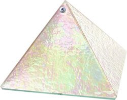 Crystal Prism Light Glass Pyramid - 6 inch - Metaphysical