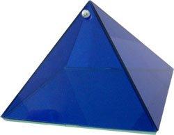 Cobalt Blue Strength Glass Pyramid - 6 inch - Metaphysical