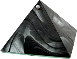 Black Protection Glass Pyramid - 6 inch - Metaphysical
