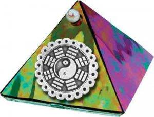 Black Diamond Feng Shui Glass Wishing Pyramid - 2 inch - metaphysical