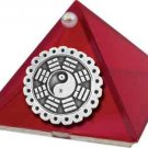 Ruby Red Feng Shui Glass Wishing Pyramid - 2 inch - metaphysical