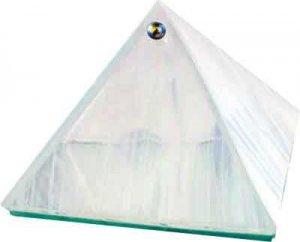 White Glass Wishing Pyramid - 2 inches - Metaphysical