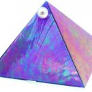 Blue Iridescent Glass Wishing Pyramid - 2 inch - metaphysical