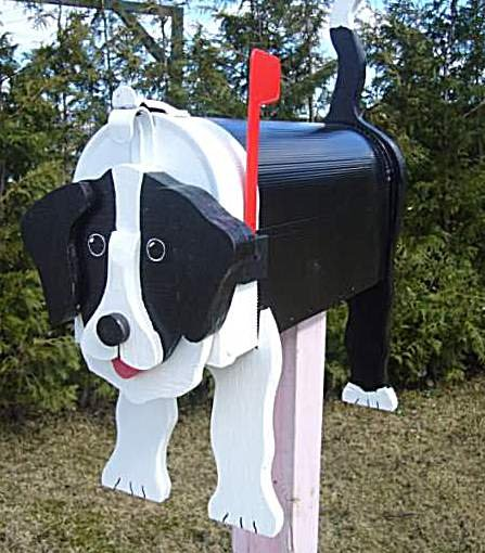 MAILBOXES - BORDER COLLIE MAILBOX