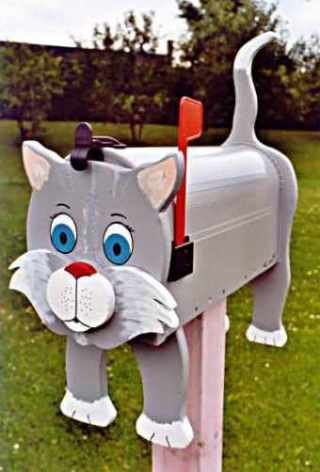 MAILBOXES - Grey Cat mailbox