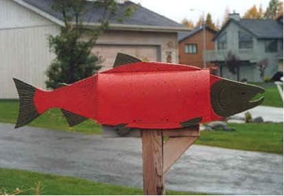 Mailboxes - Red Salmon mailbox