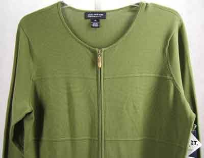 Jones NY Cardigan Sweater Top Green Plus Size 1X