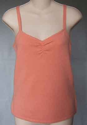 Magaschoni 100% Cashmere Shell Tank Top Peach Size M