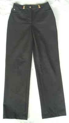 $245 St. John Sport Marie Gray Jeans/Pants Black Size 2