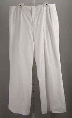 Ralph Lauren White Cotton Pants Size 16