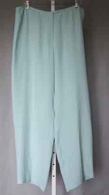 Eileen Fisher Silk Georgette Pants Robinsegg XL