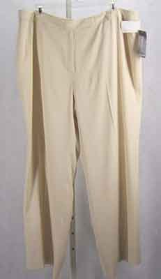 Anne Klein Lined Pants Trousers Birch Plus Size 24W