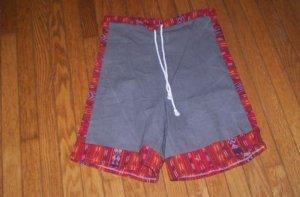 Cotton Duck Shorts w/ Guatemalan Accents