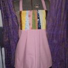Earth Mama Patchwork Apron Top