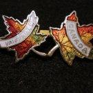Double maple leaf souvenir pin Canada Vancouver cloisonne 1005vf