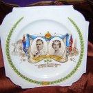 Plate 1939 King George VI royal visit Canada US Aynsley bone china  vintage 1010vf