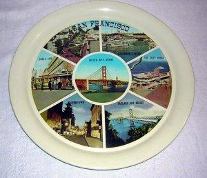 San Francisco tin photographic souvenir tray vintage 1011vf