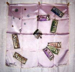Canada money currency souvenir scarf unused acetate1036vf