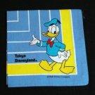 Donald Duck Tokyo Disneyland souvenir hanky vintage 1037vf