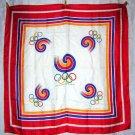 Seoul Olympics 1988 silky scarf bold unused souvenir 1056vf