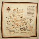 Alaska souvenir tablecloth early statehood unused vintage 1061vf