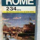 Rome planned guide for a visit to the Eternal City separate map 1074vf