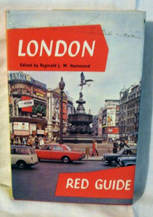 1970 London Red Guide maps sites pictures diagrams HC DJ vintage 1086vf