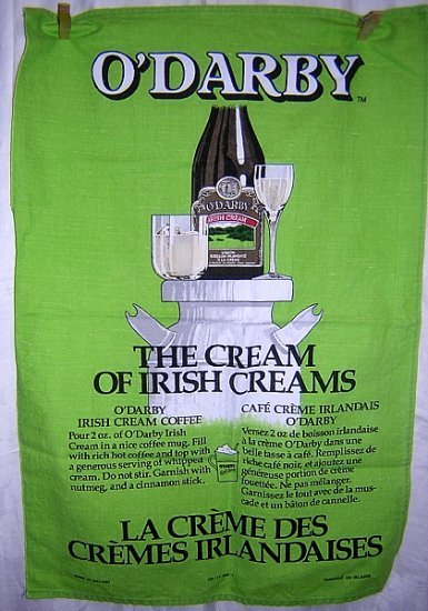 O'Darby The Cream of Irish Creams promo cotton towel 1096vf
