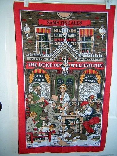 Duke of Wellington Victorian pub cotton towel great vintage 1097vf
