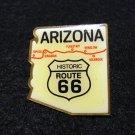 Arizona Historic Route 66 stud back plastic pin vintage 1105vf