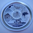 1968 Tin souvenir tray Quesnel BC Cariboo Wheelers vintage 1106vf