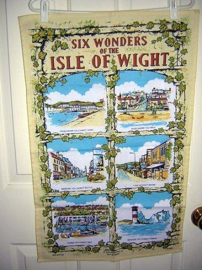 6 Wonders of the Isle of Wight humorous towel vintage 1110vf