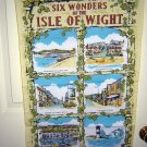 6 Wonders of the Isle of Wight humorous towel vintage 1110vf
