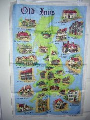 Old Inns linen towel by Ulster made in Ireland 1121vf