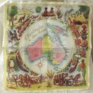 Australia and New Guinea souvenir hanky unused vintage 1122vf