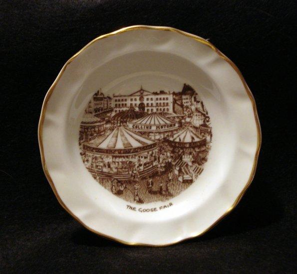 Nottingham Goose Fair tiny souvenir plate pin dish limited edition 1127vf